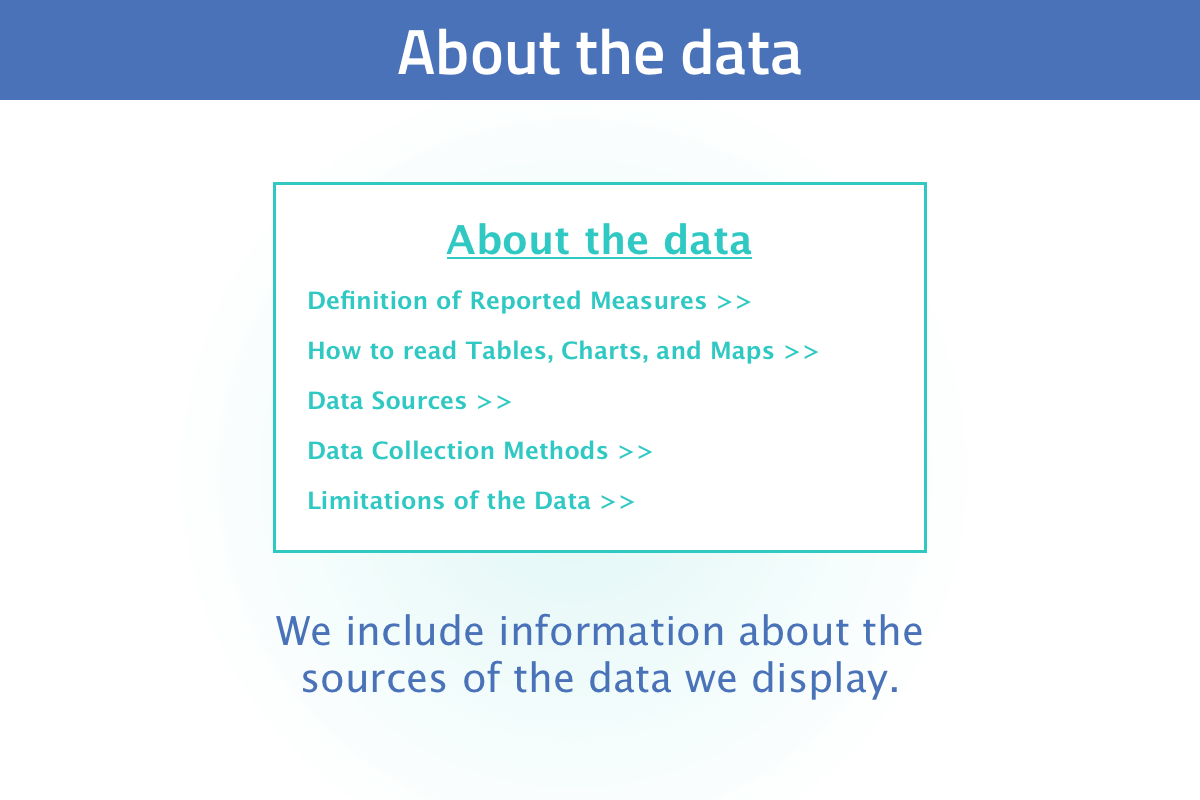 New user tour slide 8: we have background information on many environmental, health, and related topics